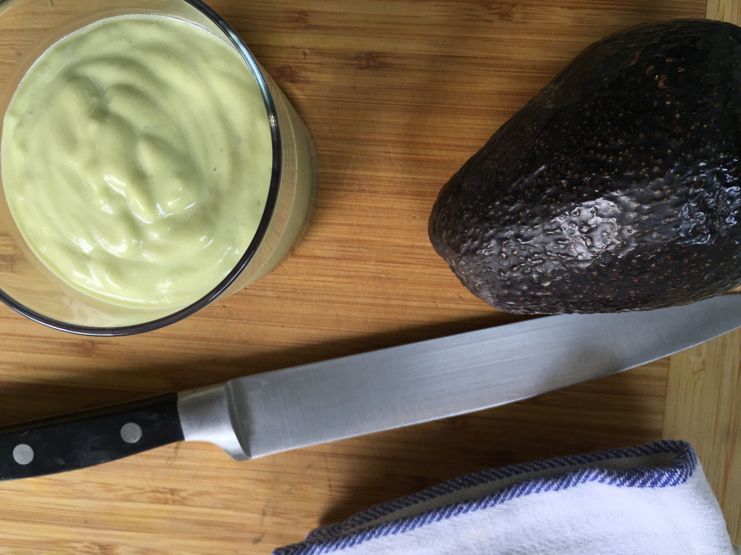 Out of the blender, creamy delicious avocado smoothie