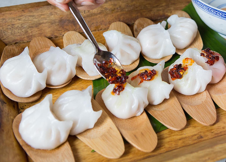 Steamed Har Gaw with Szechuan Peppercorn