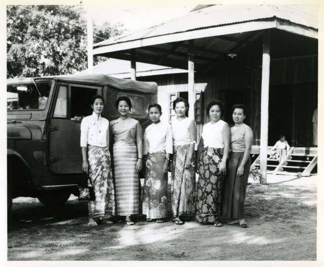 My mom (third from right) with her friends on their road trip.