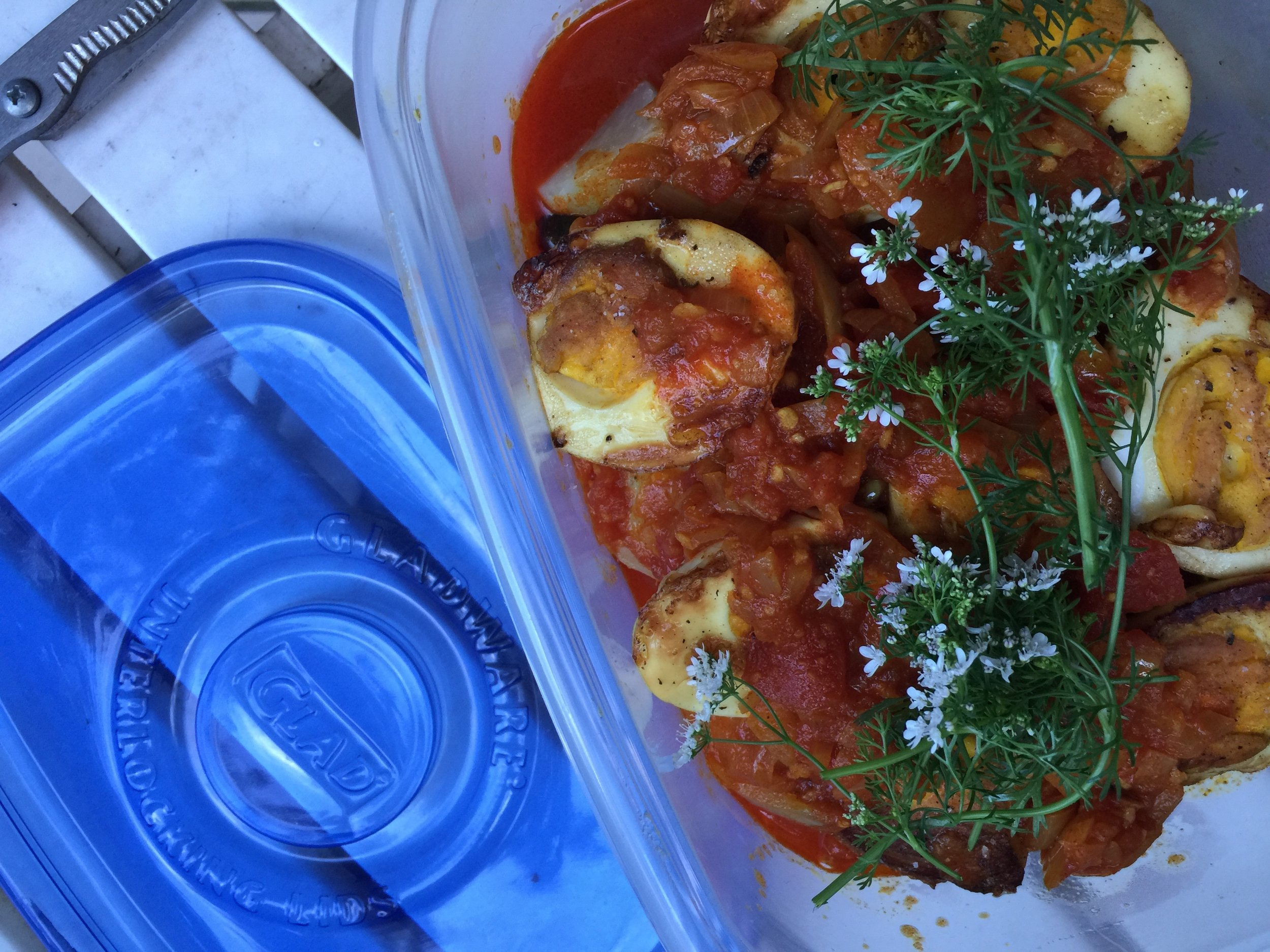 Packing Burmese Sibyan with Eggs before hitting on the road.