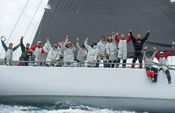 Lucky  is first-to-finish in the Transatlantic Race 2015 (photo credit Lloyd Images)