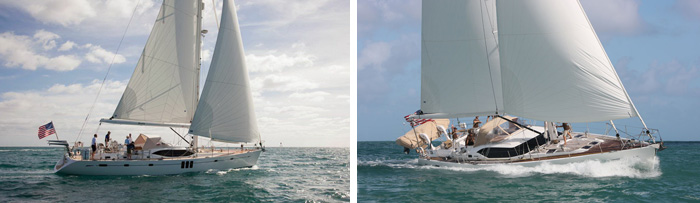 Sailing vessels  Bandido  and  Hurrah  will be presented by Oyster Marine at the Newport Charter Yacht Show.(photo credit: Oyster Marine)