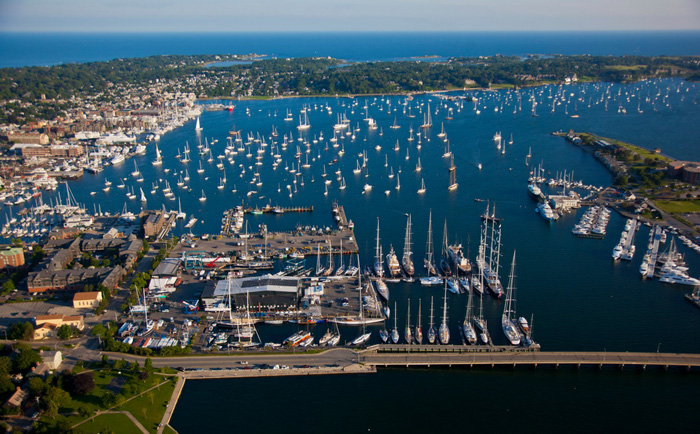 Newport Shipyard, which hosts and services visiting superyachts year-round, is the new home of the Newport Charter Yacht Show.(photo credit: Bill Black)