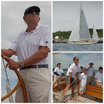 Tom Whidden skippered the 92-foot (28m) yawl Bequia to win Class B and the overall Candy Store Cup at the inaugural Candy Store Cup 2016 Superyacht Edition. (photo credit: Billy Black) Click photo to download this and other photos in high resolution