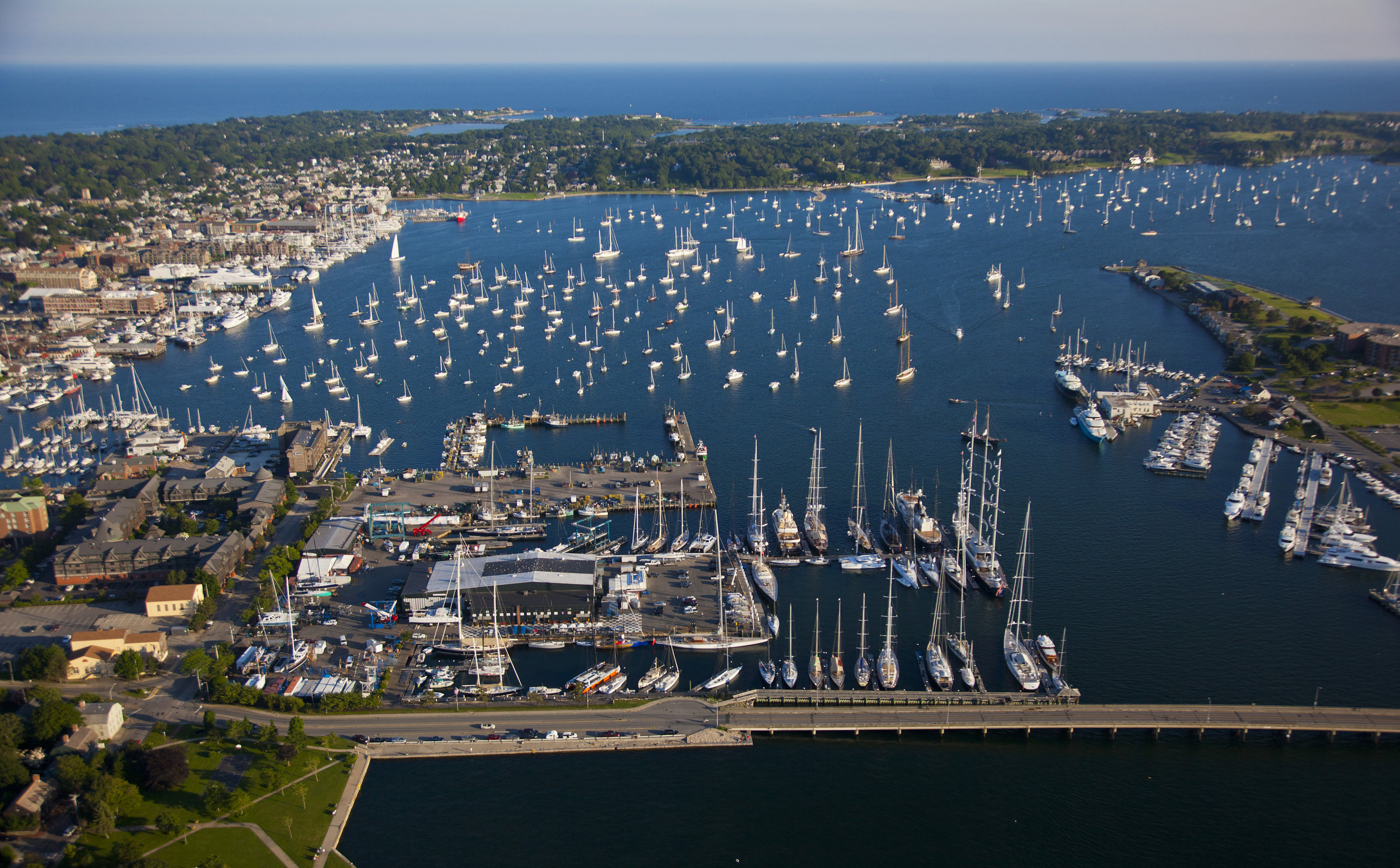 Newport Shipyard on the Newport waterfront. Photo: © Billy Black