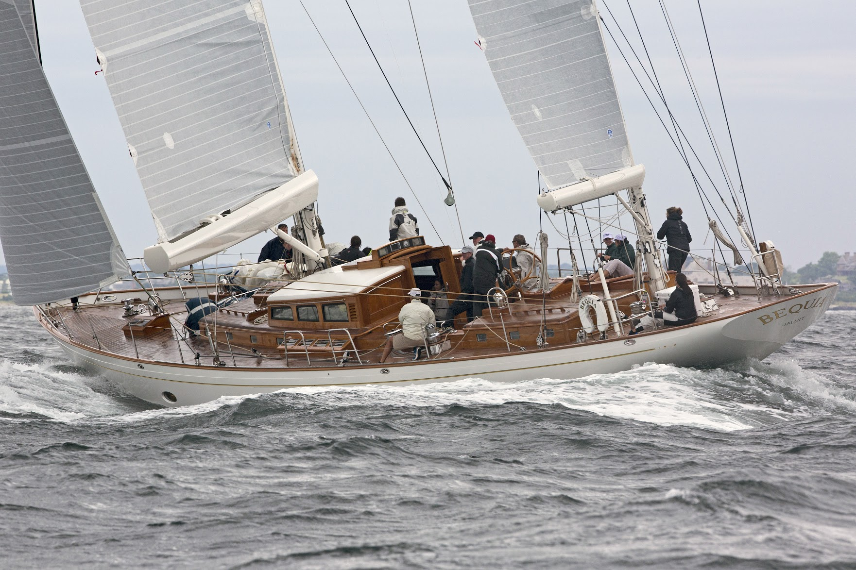 Bequia is the overall winner of the 2017 Candy Store Cup Superyacht Regatta. Photo: Billy Black