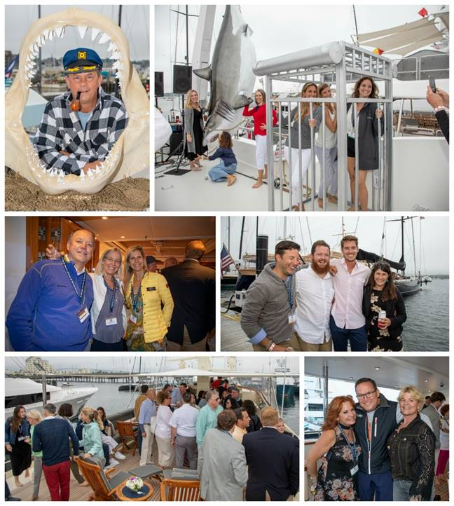 Scenes from the Yacht Hop at the 2019 Newport Charter Yacht Show presented by Helly Hansen Newport  (Photos by Billy Black)