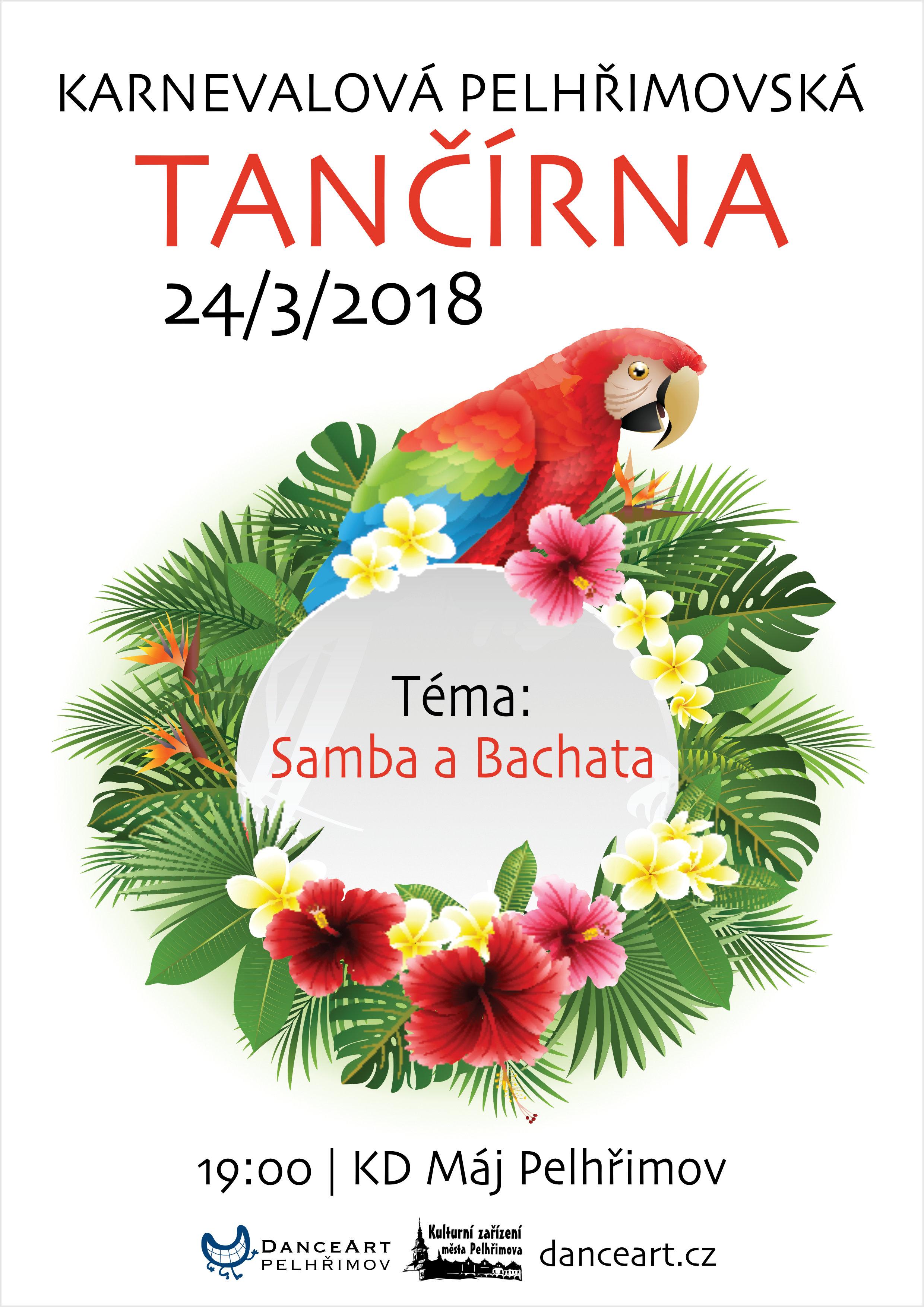 Plakát Karnevalová Pelhřimovská tančírna 2018 web okraj.jpg