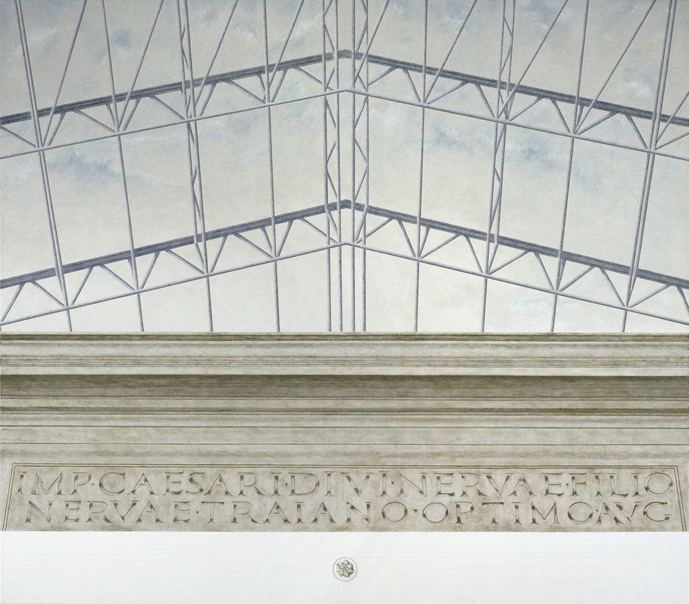 Arco di Traiano, Benevento  2017 Olio su lino; 124 x 140 cm