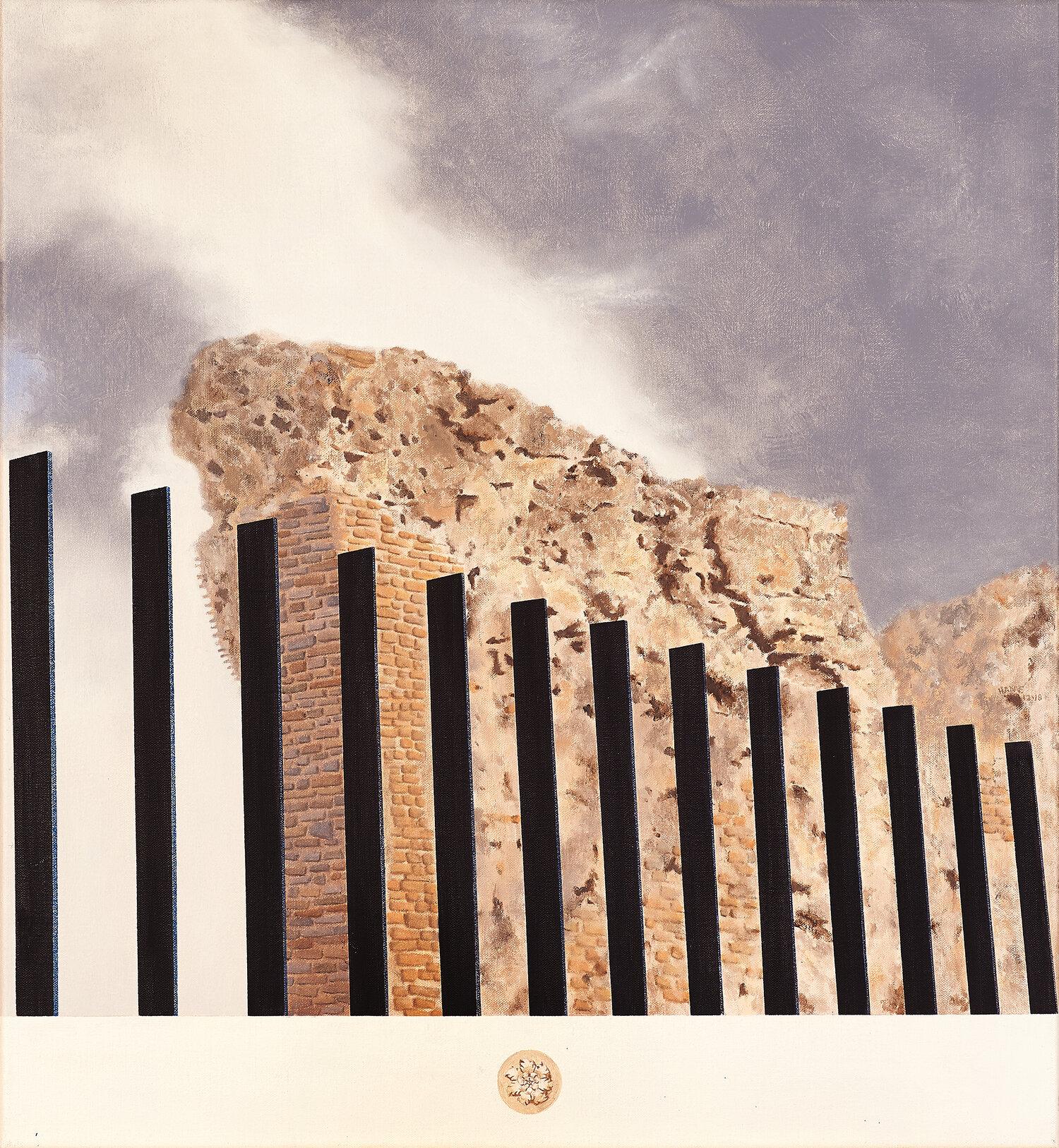 Anfiteatro, Larino  2018 Olio su lino, 60 x 55 cm