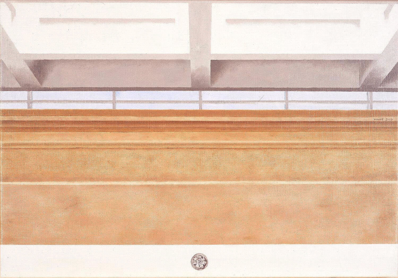 Museo dell'Ara Pacis, Roma     2019 Olio su lino, 40 x 58 cm