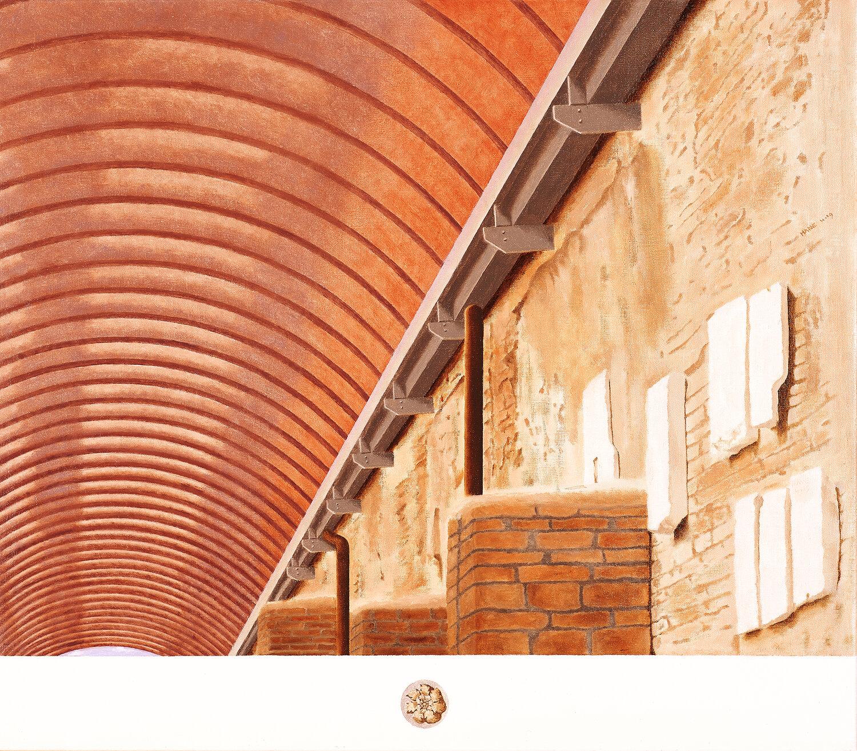 Galleria, Ostia antica  2019 Olio su lino, 64 x 75 cm