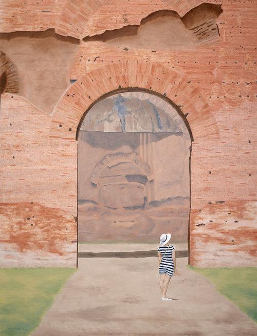 Rome  2015 Oil on linen; 127 x 97 cm