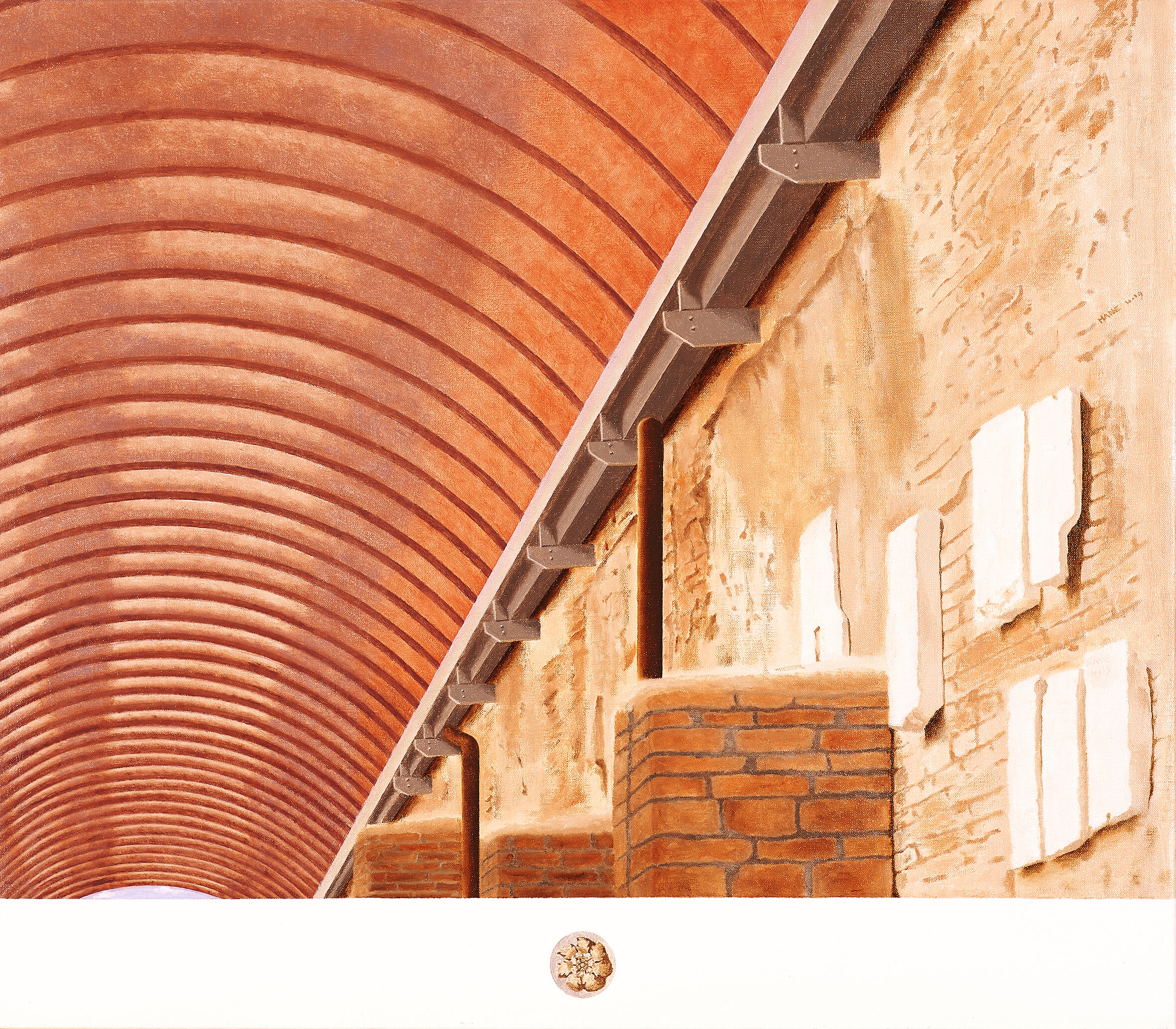 Galleria, Ostia antica  2019 Olio su lino, 64 x 75 cm € 2,000