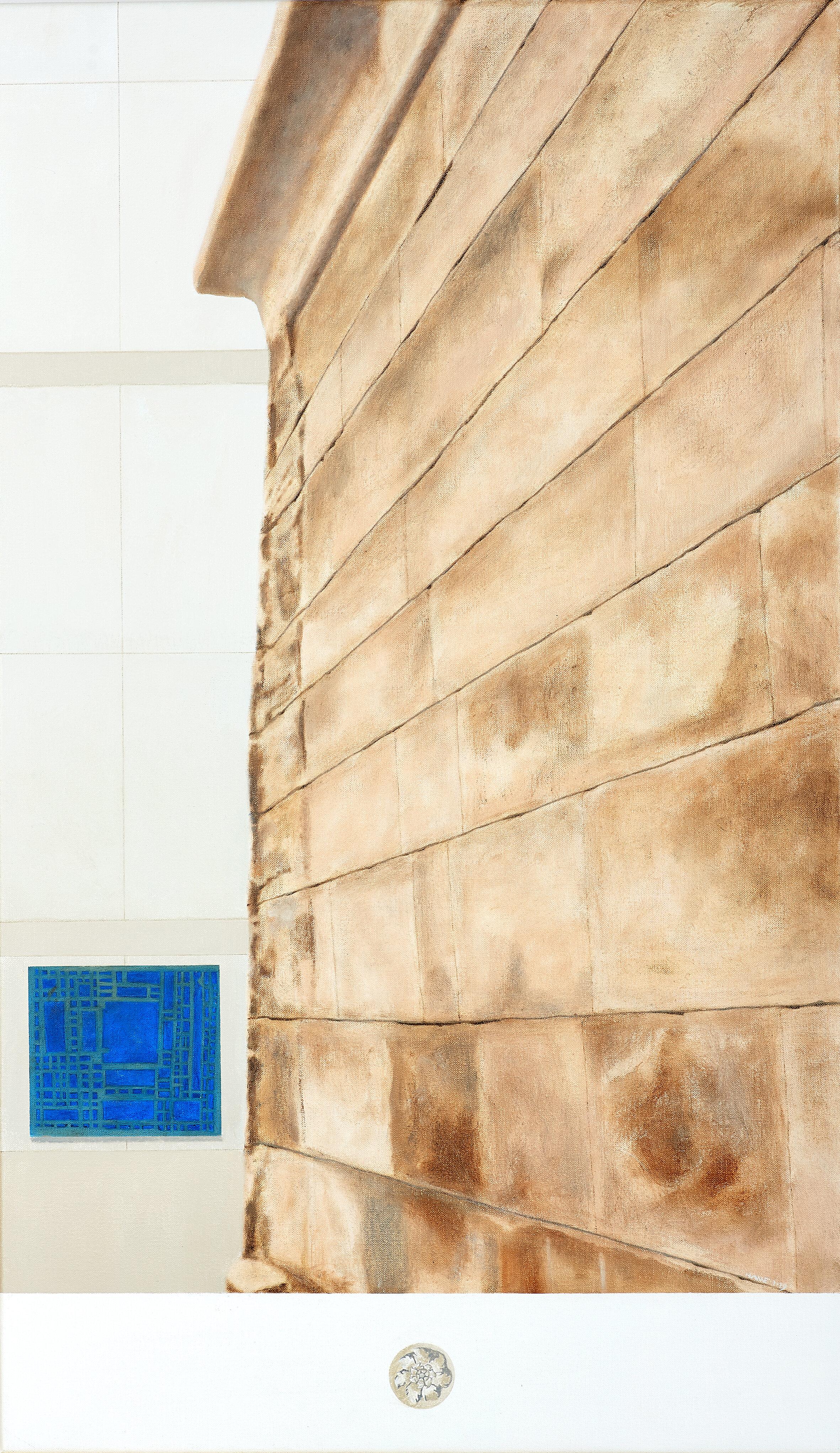 Tempio di Iside, Taffeh, Egitto.   Museo Nazionale di Antichità di Leiden, Olanda  2018 Olio su lino, 90 x 52.5 cm Collection Museum Aratro, University of Molise, Campobasso