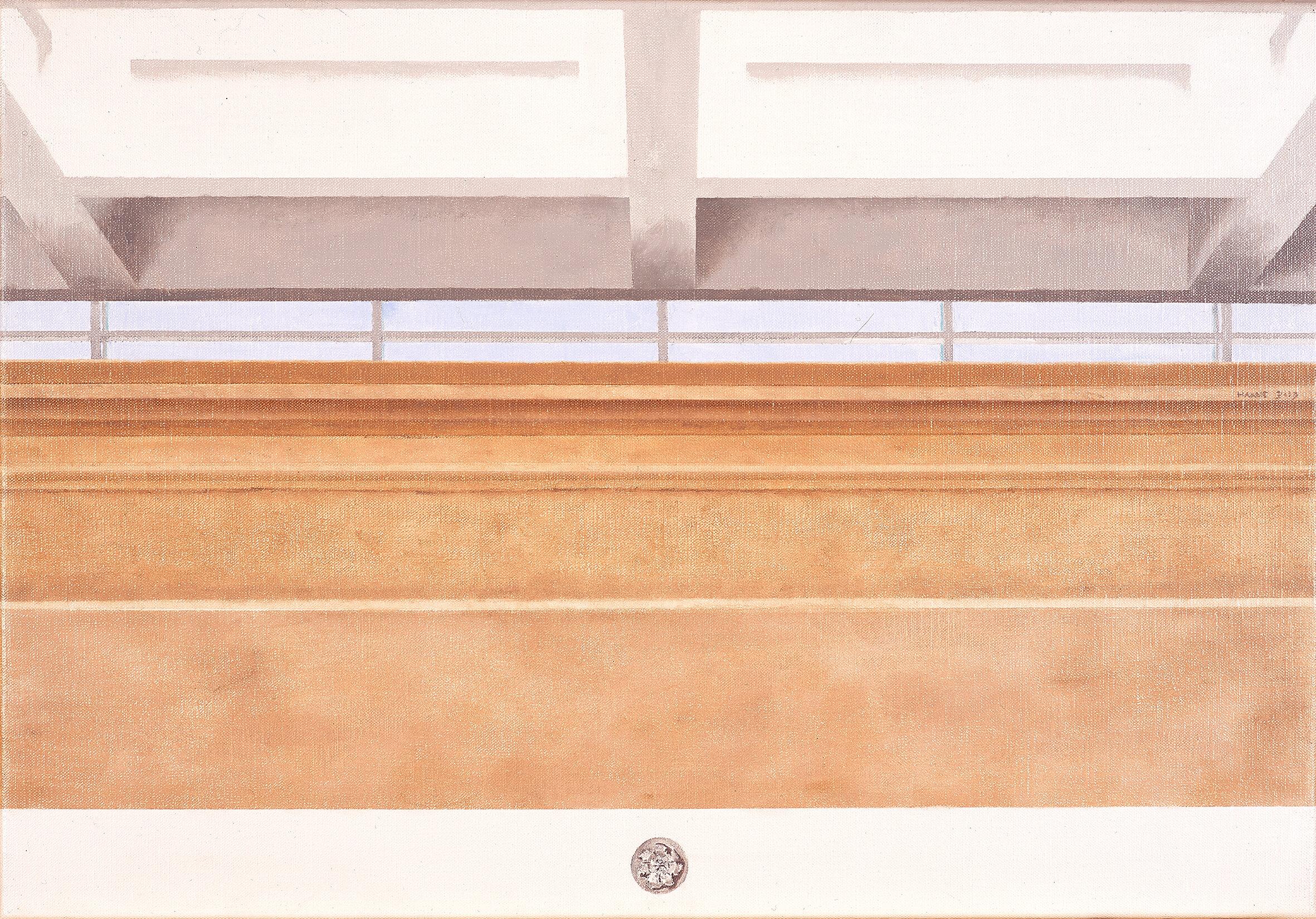 Museo dell'Ara Pacis, Roma  2019 Olio su lino, 40 x 58 cm € 970