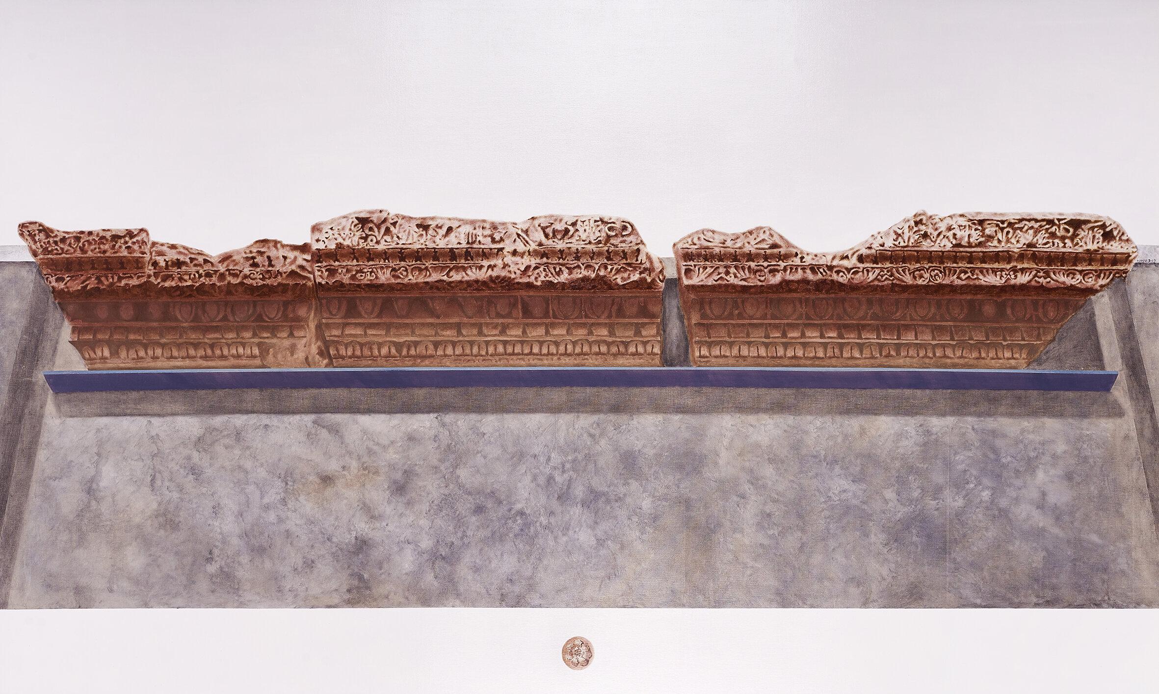 Frammento della Domus Flavia, Palatino, Roma. Napoli, Museo Arqueologico Nazionale di Napoli  2019 Olio su lino; 105 x177 cm € 6,650