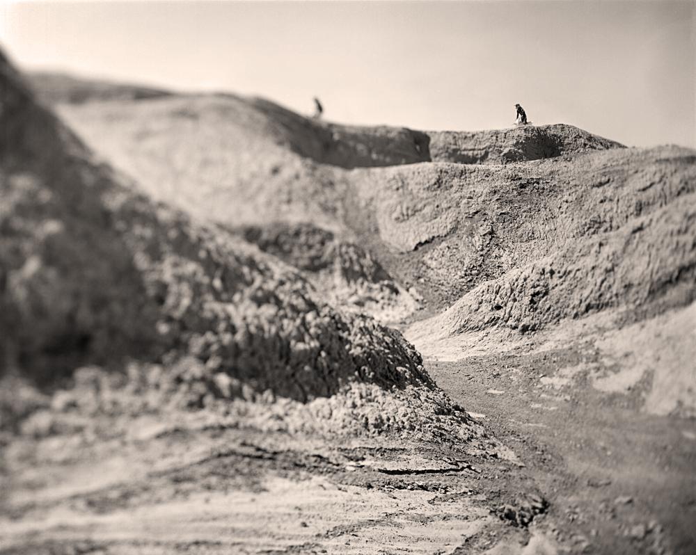Navigating a ridge, Ocotillo Wells, CA, 2010