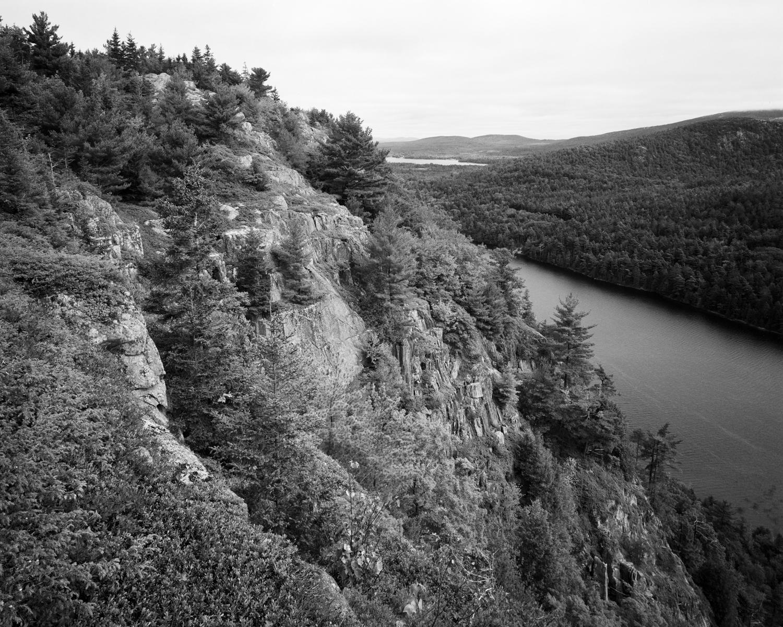 Beech Cliffs and Echo Lake. Acadia National Park, ME.