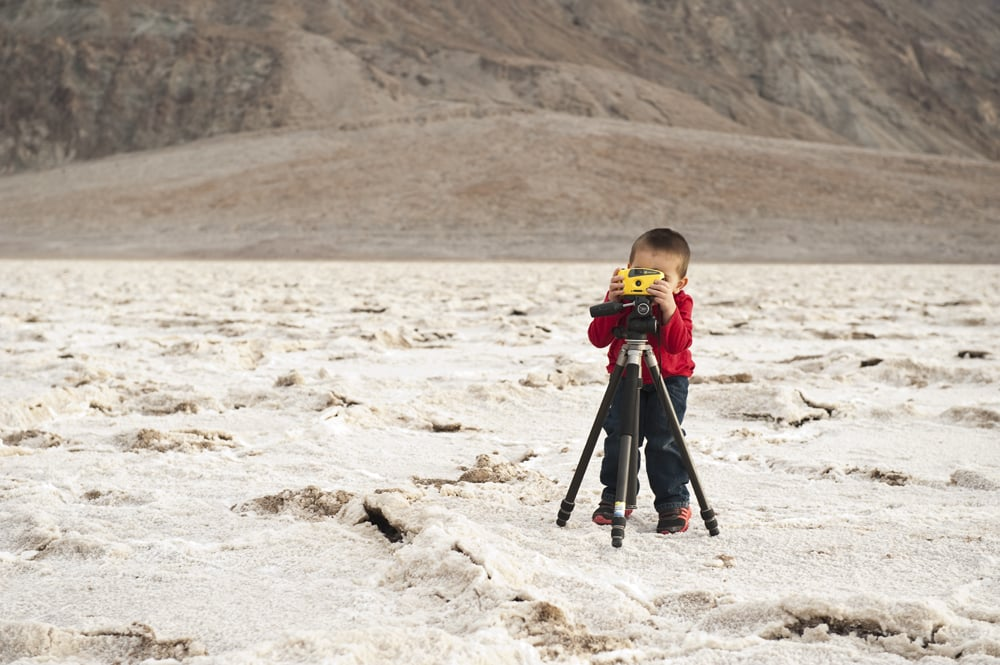 Framing up the following image of Badwater Basin atop my tripod. 2012