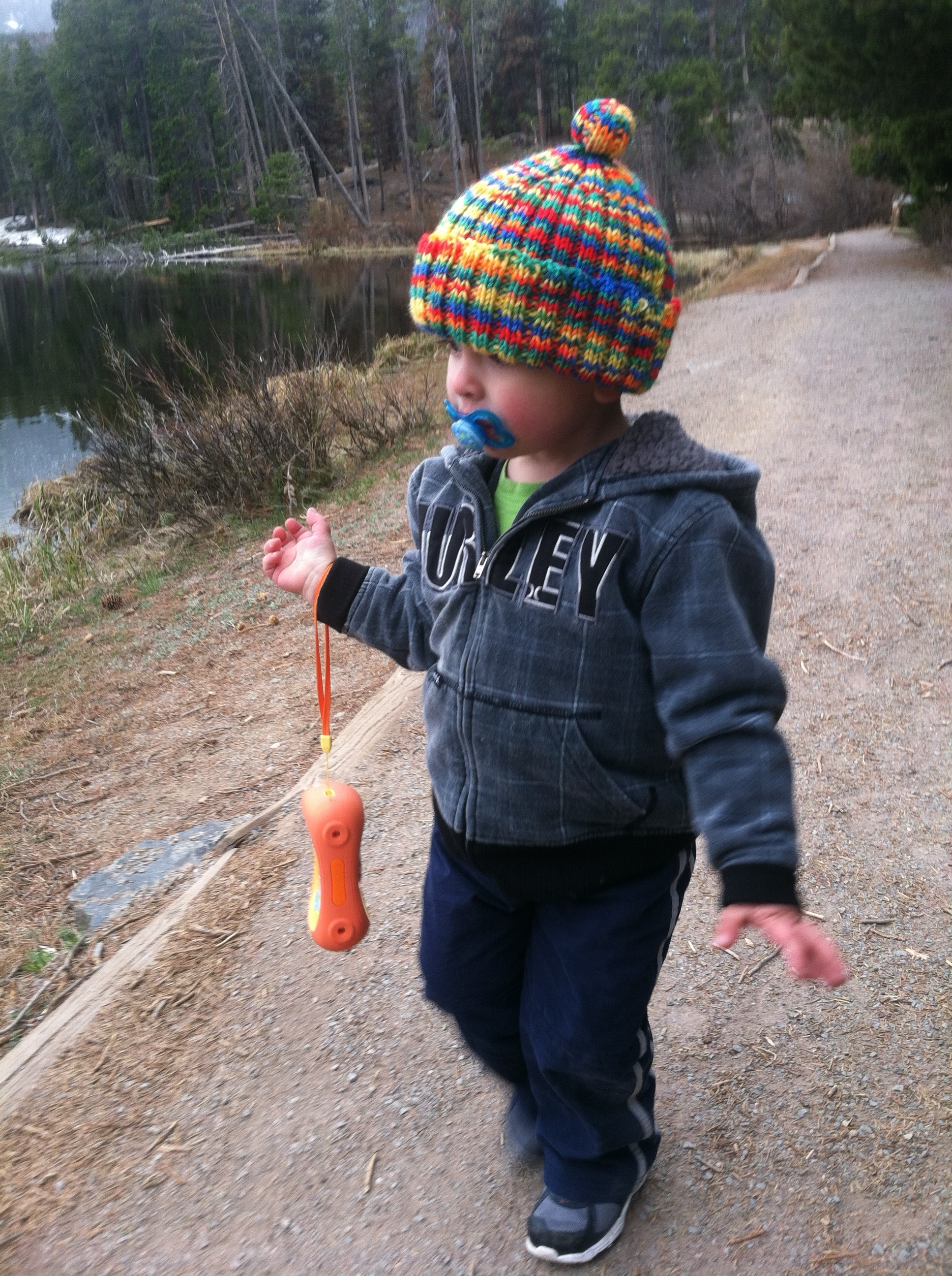 A journey around Sprague Lake. Rocky Mountain National Park, age 2.