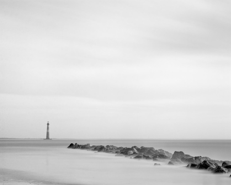 Morris Island Light and jetty