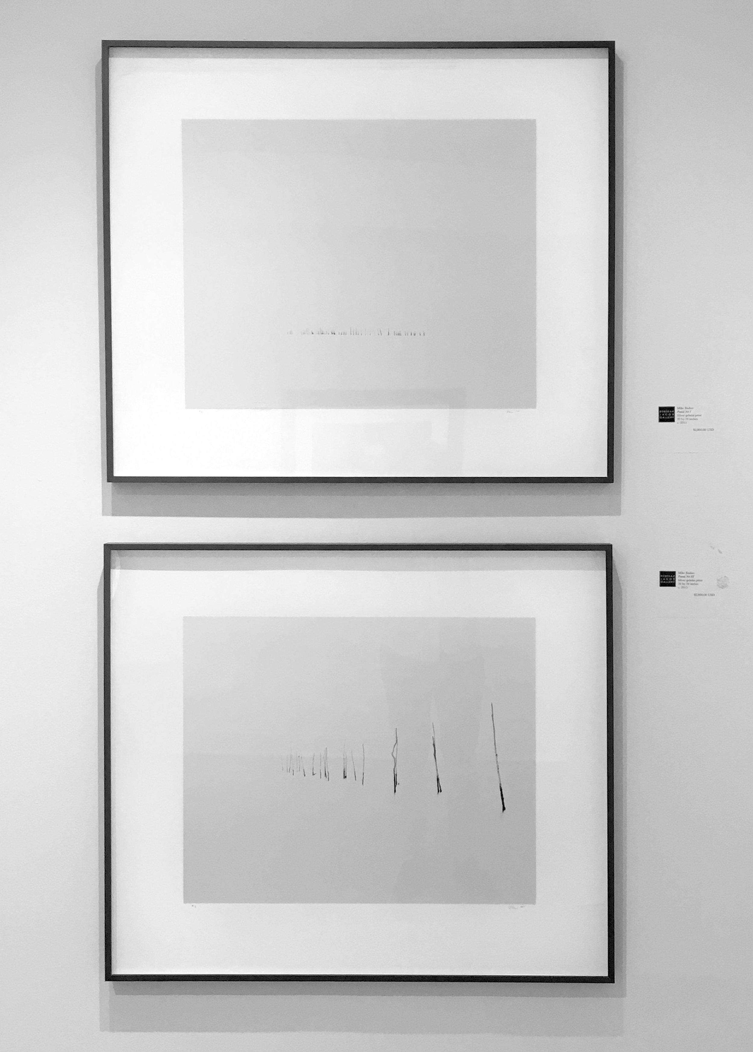 POUND NET I, 2015. 20x24 inch silver gelatin photograph (top) and POUND NET III, 2015.20x24 inch silver gelatin photograph (bottom)