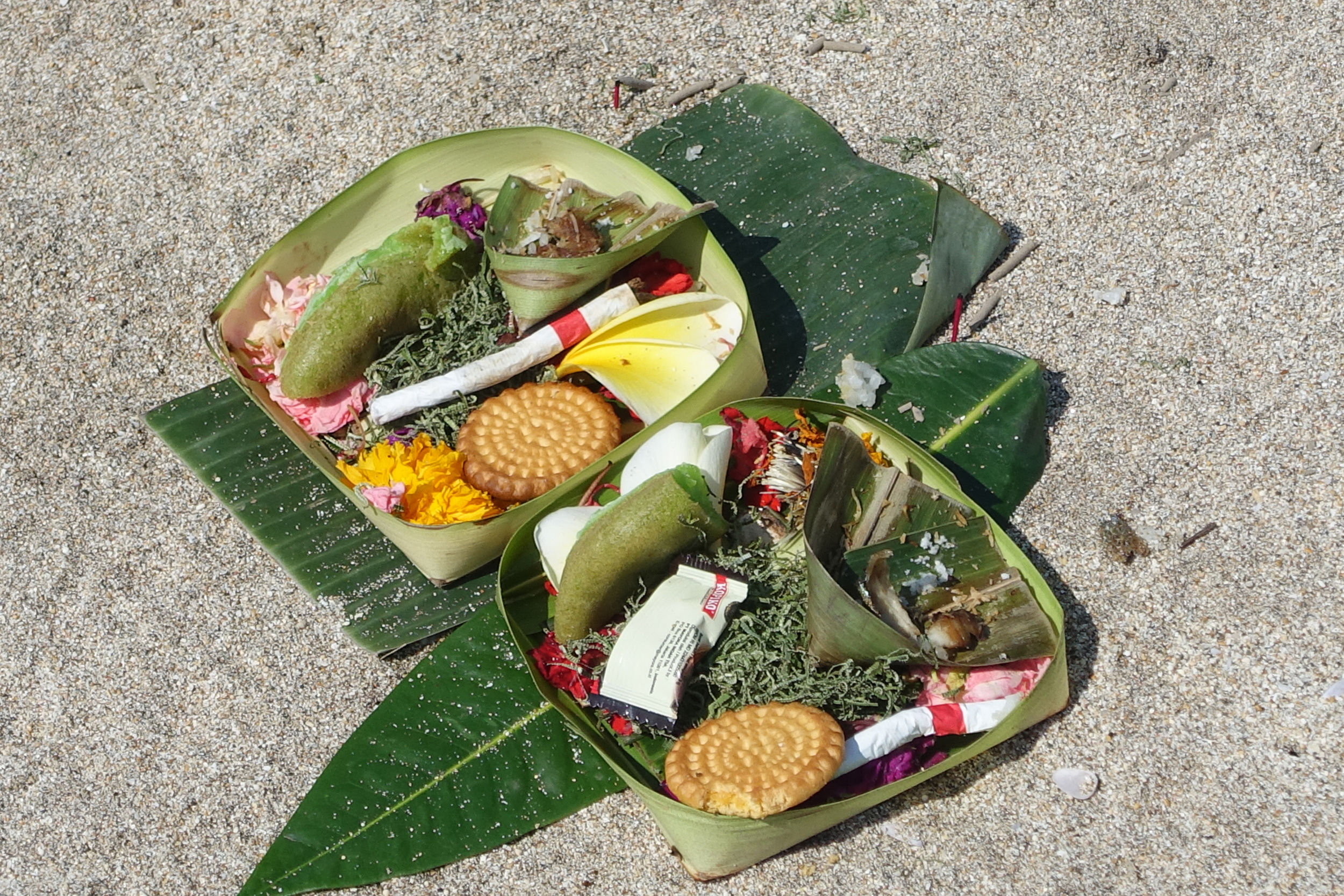 Some of the hundreds of offerings that can be seen all along the beaches, streets, and outside homes and businesses.