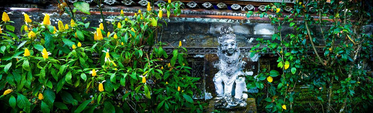 Lotus temple statue.