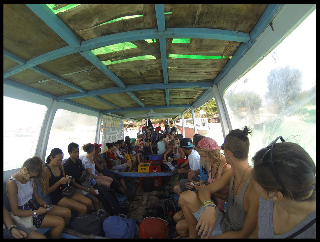 The packed public boat