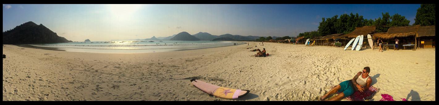 Selong Belonak Beach, catching some rays after a fun little surf sesh.
