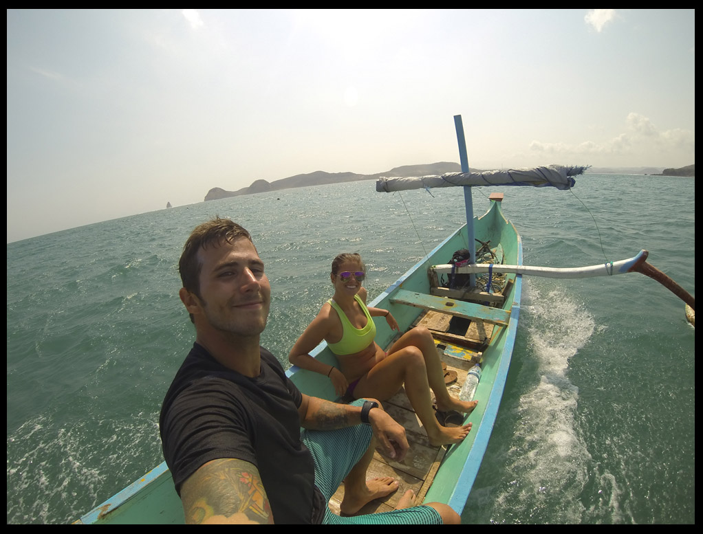 Heading back from the empty surf break Gerupuk Insides. Literally me and 1 other guy for 2 hours!