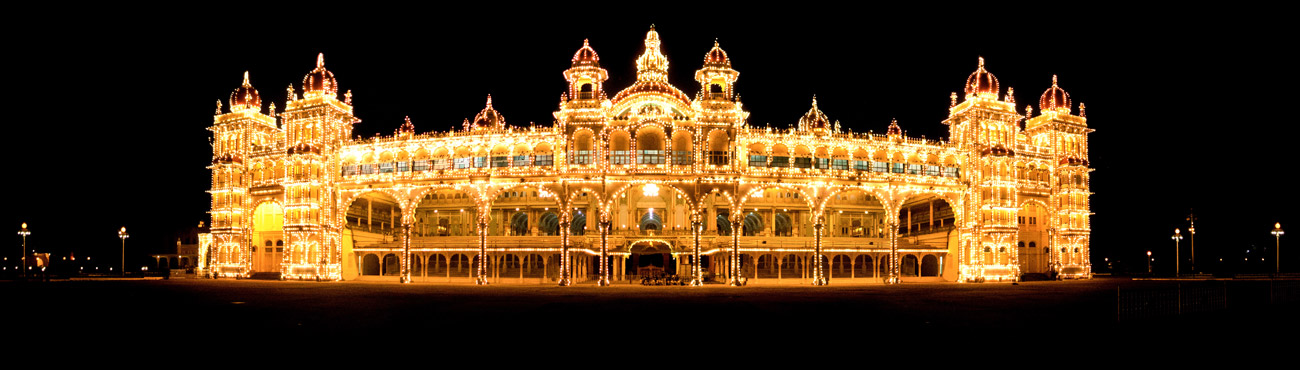 Mysore Palace. The king of Mysore once resided here.