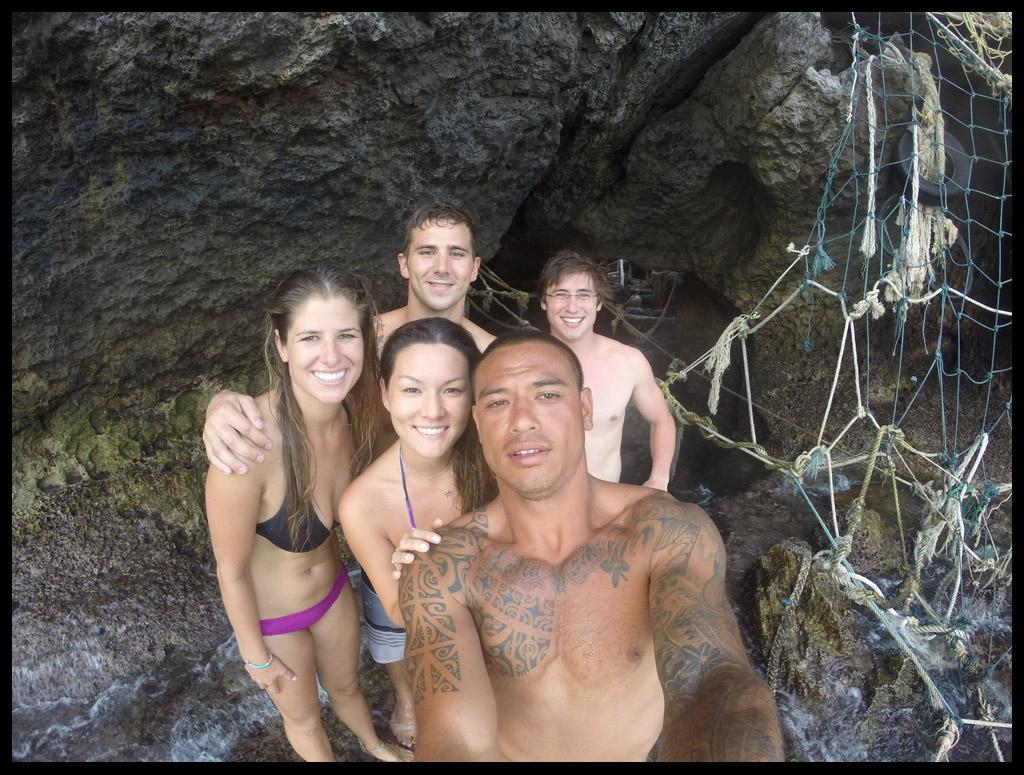 Mikaela, Mikey, Sam, Mary and Jordan exploring Koh Phi Phi Leh