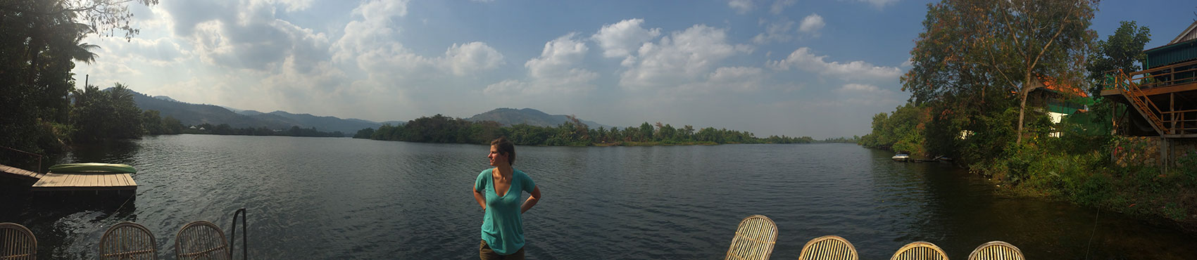 Dock on the Kampot River.