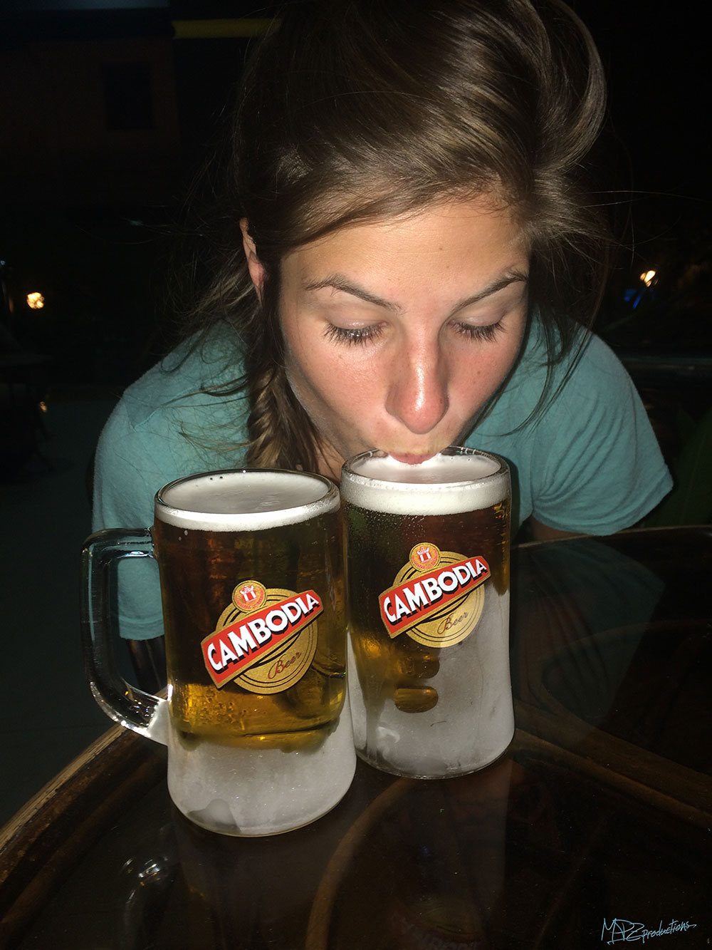 CAMBODIA victory beers for unsuccessfully biking Mt. Bokor!