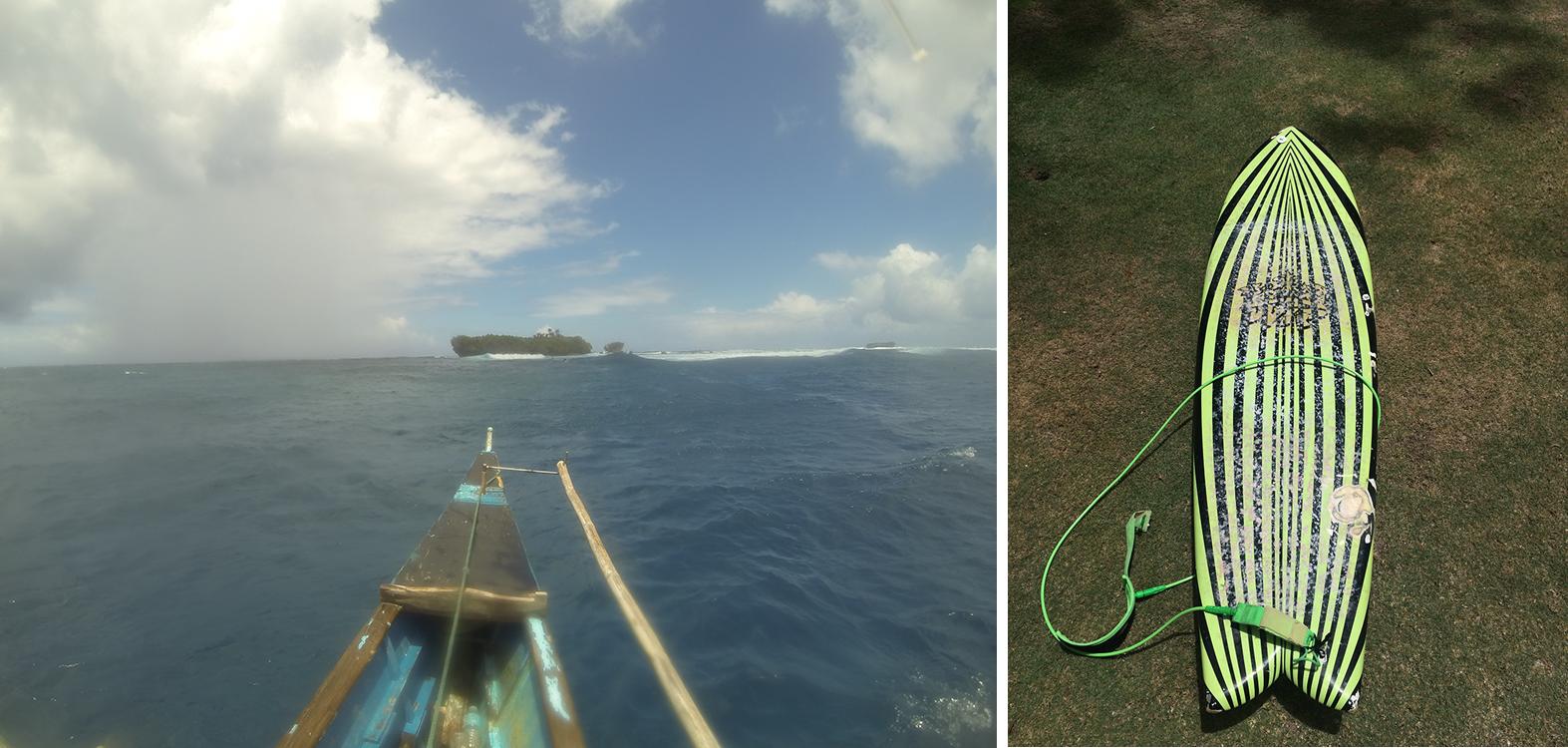 Left: Rock island surf break. Right: Gettin fishy!
