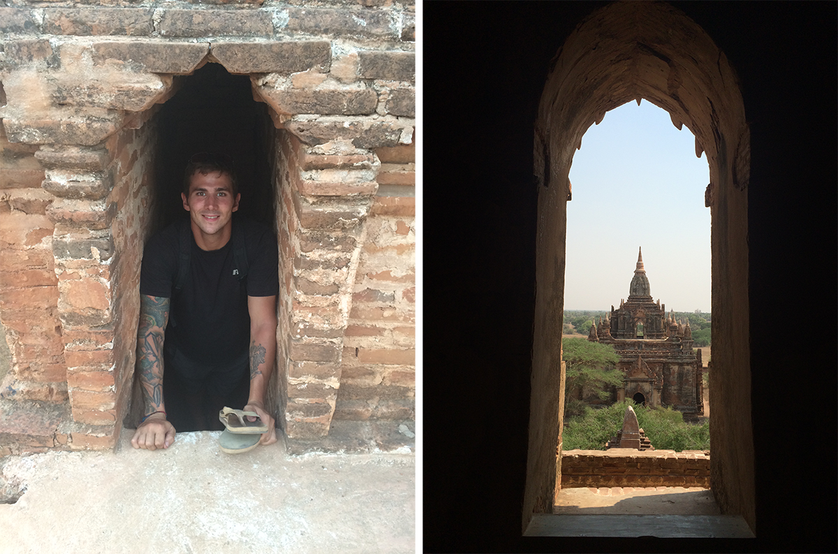 Most temples you could walk inside and find secret, tiny staircases leading up to the top of the temple!