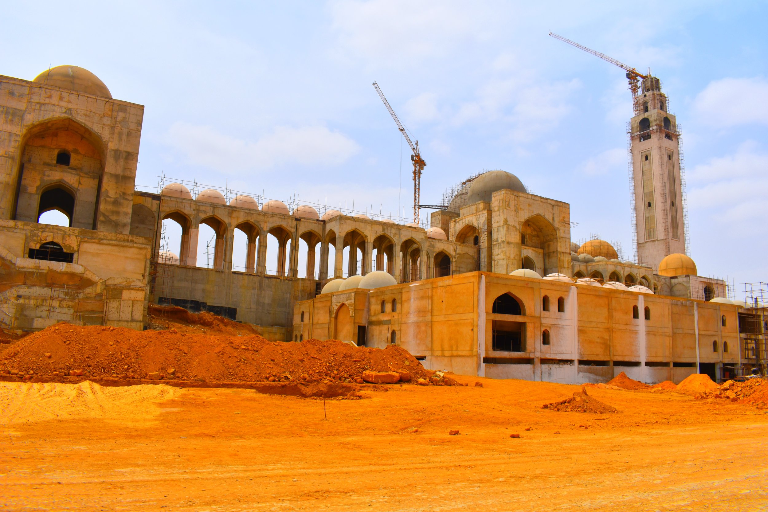 A massive mosque under construction in Bahria Town, Pakistan.