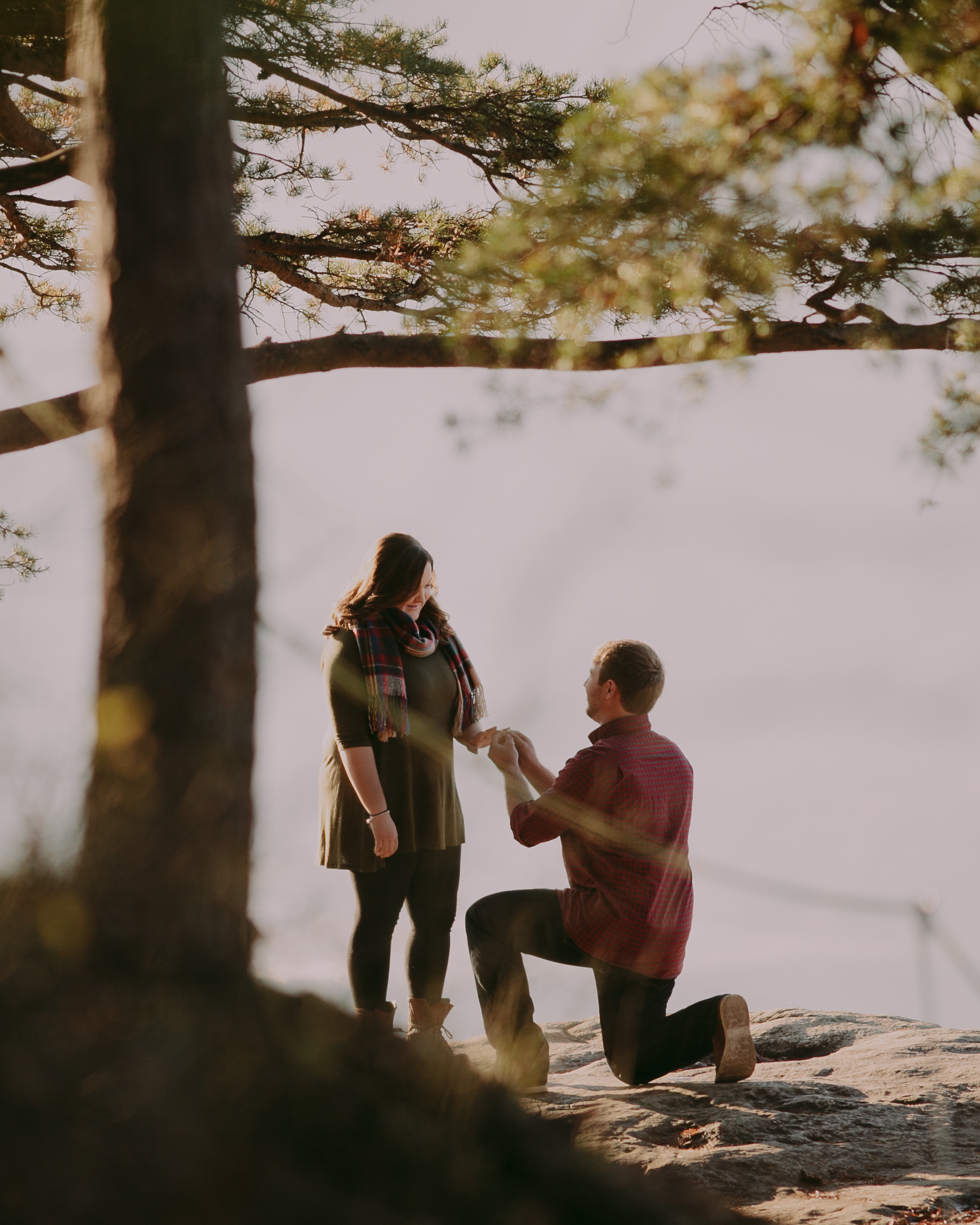 Sunset Rock Chattanooga Proposal Engagement Photos Photography Anthology (1 of 19).jpg