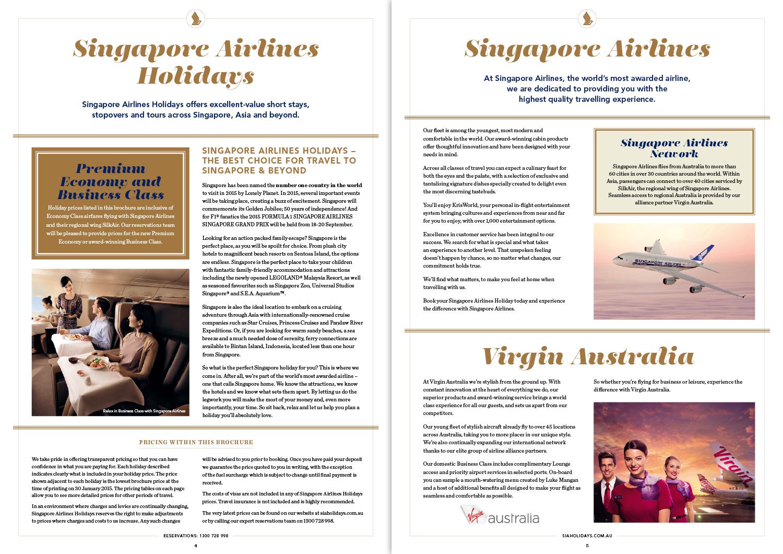 Singapore & Beyond: brochure spread