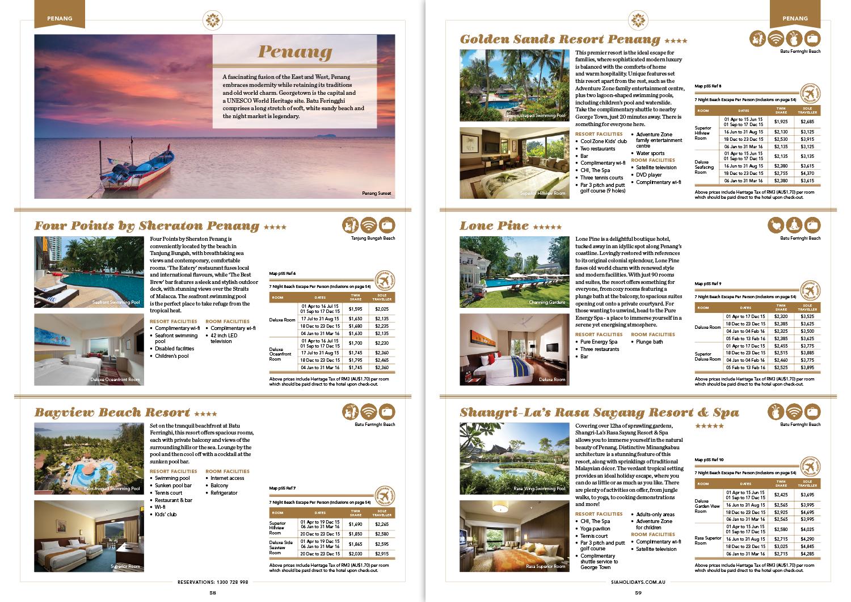 Asia Beach Escapes: brochure spread
