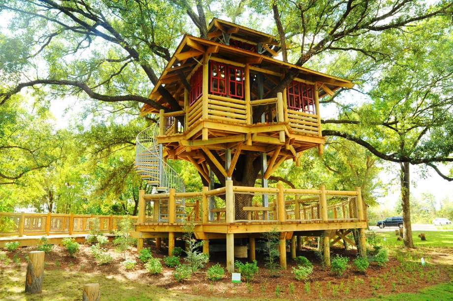 Bridgeland has added a life-size tree house to it's growing list of additions to the growing community. Bridgeland's newest amenity is located in Tree House Park and is two-stories built from reclaimed wood. Courtesy of Vagney Bradley