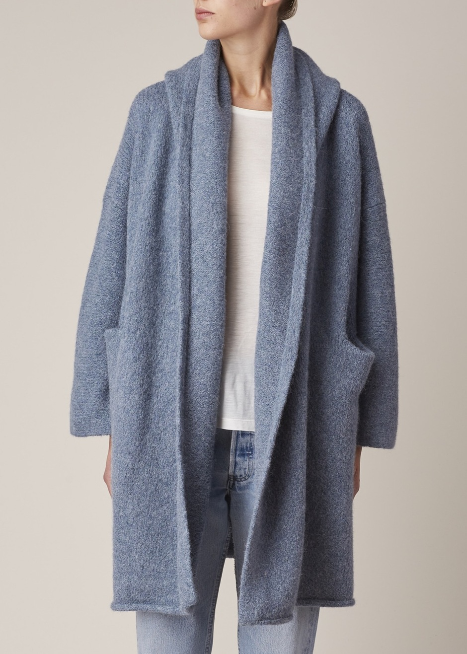 Lauren Manoogian CHAMBRAY CAPOTE COAT via treschicnow.com