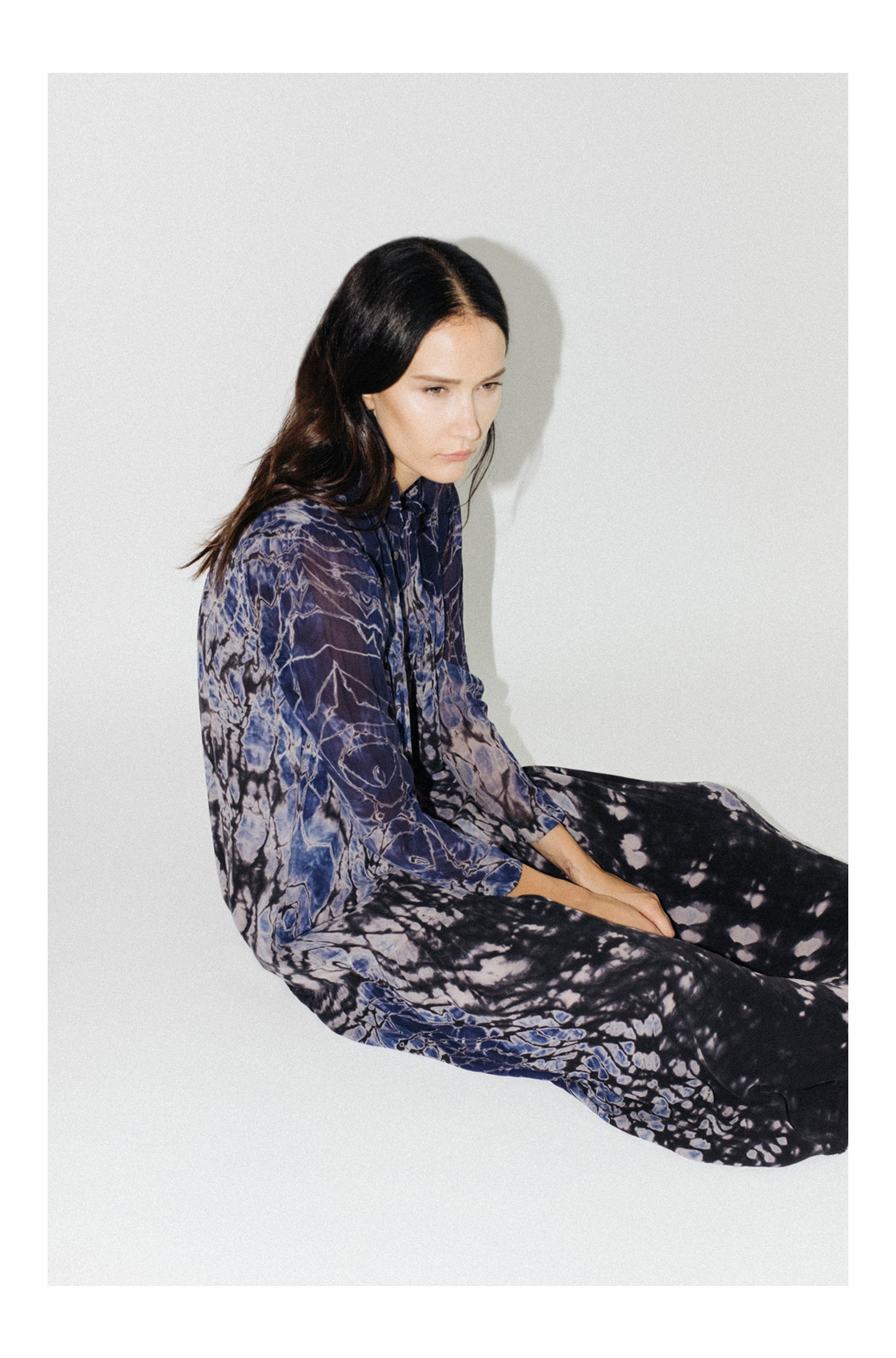 Raquel Allegra Victorian Dress Tie Dye via The Dreslyn