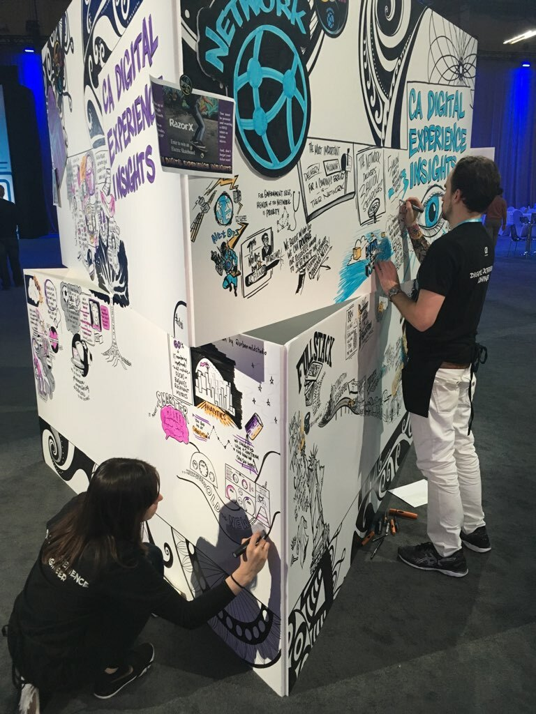 Graphic Recording Tower Expo CA Technologies Urban Wild Studio