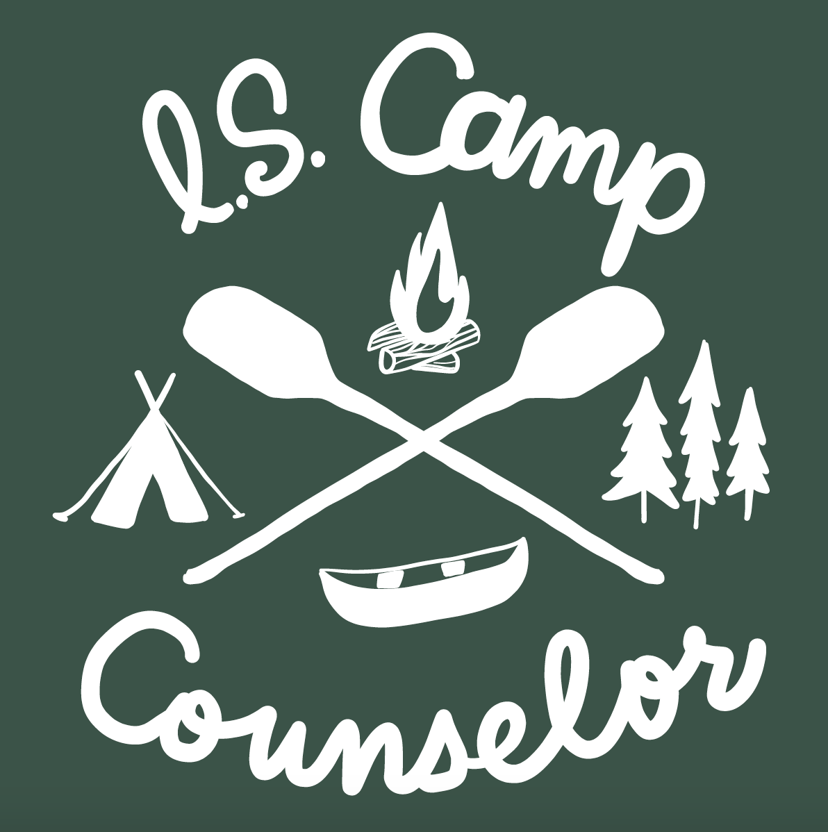 Information Services Camp Tee Shirt Illustration