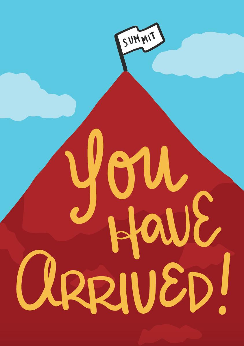 Congratulations Card Mountain Illustration