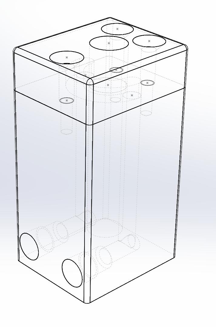 SolidWorks design for tube chiller