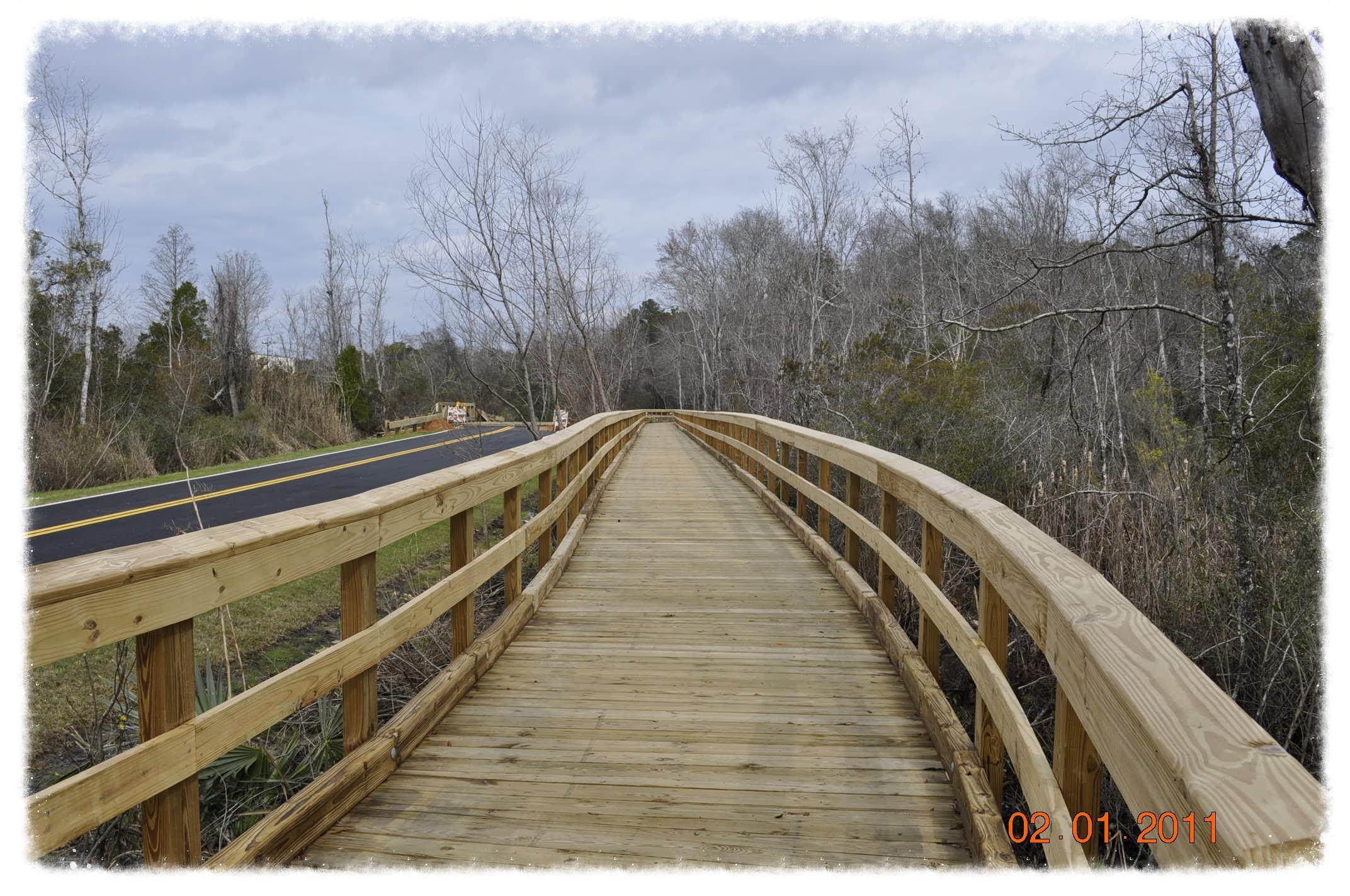 Pedestrian Bridge with Handrail